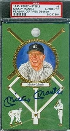 MICKEY MANTLE SIGNED PEREZ STEELE MW PSA/DNA AUTOGRAPH AUTHENTIC * See this great product.