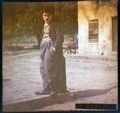 Charlie Chaplin in colour.