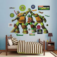 Teenage Mutant Ninja Turtles High Five Wall Decals by Fathead, Multicolor