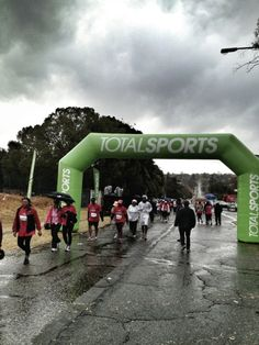 #Running in the rain at the TotalSports Ladies Race 10km