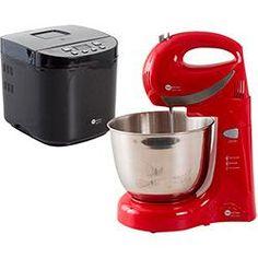 foto: Batedeira Multi Chef Vermelha + Panificadora Super Chef Fun Kitchen 220V