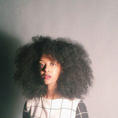 Natural Hair, Grid Dress