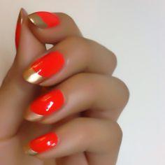 Gold  Bold #nails #neon #nailart