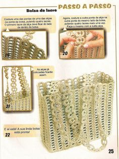 Bolsa de fichas o lacres de lata de refresco . ♪ ♪ ... #inspiration #diy GB http://www.pinterest.com/gigibrazil/boards/
