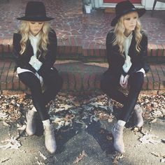 Lululemon Tights, Urban Outfitters Hat, Matisse Boots, Madewell Tuxedo Shirt