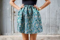 DIY HAND-SEWN BROCADE MINI SKIRT