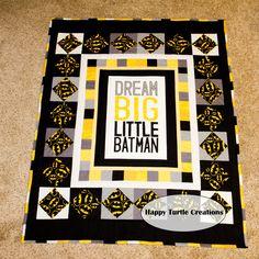 Dream BIG Little Batman Quilt Batman Blanket