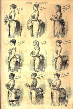 Assortment of almohadillados. Magazine The Mosquito, 1886