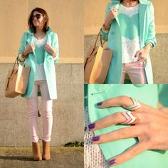 #spearmint trench #sweater
