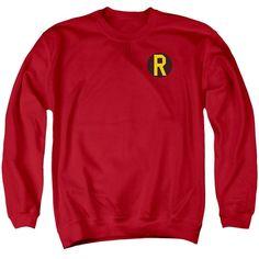 DC Comics- Robin Logo Adult Crewneck Sweatshirt