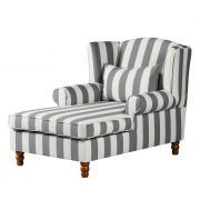 Ohrensessel Colmar XXL - Webstoff Grau gestreift Sofa, Armchair, Interior Design, Furniture, Home Decor, Necklaces, Home, Old Furniture, Living Room Ideas