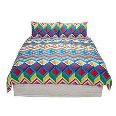 Living & Co Duvet Cover Set Aztec Queen