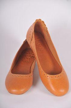 Uluwatu. Стильные кожаные балетки для дома, офиса, прогулок - бежевый