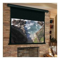 "Draper Premier White Electric Projection Screen Viewing Area: 96"" H x 120"" W"