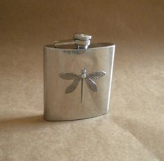 http://www.etsy.com/listing/74949153/silver-dragonfly-6-ounce-stainless-steel