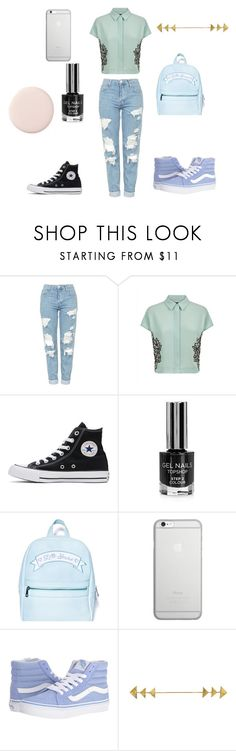"""Blue-Green"" by nikki947 on Polyvore featuring Topshop, Jaeger, Converse, Sugarbaby, Native Union and Vans"