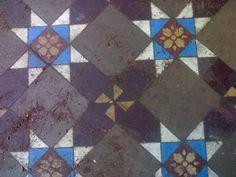Victorian encaustic floor tile.