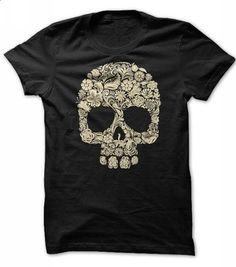 Halloween Floral Skull T Shirt - #sleeve #mens casual shirts. MORE INFO => https://www.sunfrog.com/Holidays/floral-skull-halloween-shirt.html?id=60505