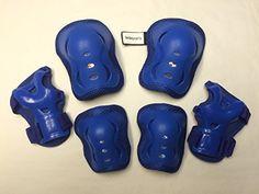 Fantasycart's Kid's Roller Blading Wrist Elbow Knee Pads Blades Guard 6 PCS Set in Blue  Children's knee pads