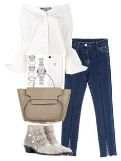 """""""Untitled #3737"""" by theeuropeancloset ❤ liked on Polyvore featuring Chloé, Gucci, Jacquemus and Forever 21"""