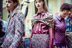 Mary Katrantzou fall 2016 rtw - behind the scenes Fall Winter, Autumn, Mary Katrantzou, Creative Director, Ready To Wear, Feminine, Sari, Fall 2016, Prints