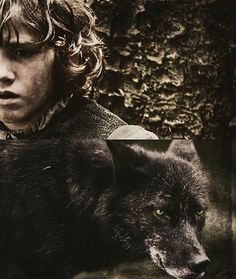 Rickon Stark and Shaggy Dog ~ Game of Thrones Fan Art