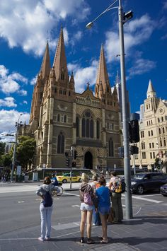 Church on Flinders Street by Charles Wong, via 500px (St. Paul,s Cathedral, Melbourne Victoria Australia)