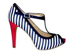 Striped heels