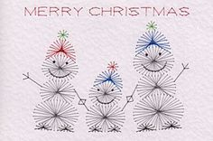The Latest Trend in Embroidery – Embroidery on Paper - Embroidery Patterns Embroidery Cards, Learn Embroidery, Embroidery Patterns, Xmas Cross Stitch, Cross Stitch Cards, Christmas Cards To Make, Family Christmas, Merry Christmas, Stitching On Paper