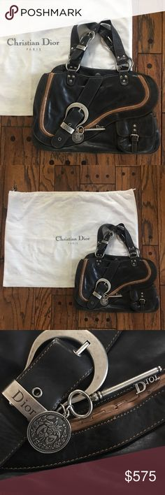 135b74f311d8 Christian Dior Gaucho Saddle Bag AUTHENTIC! Like New! Gorgeous black  leather Christian Dior Gaucho