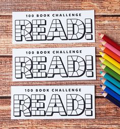 Read 100 books this summer with Free Printable Reading Challenge Bookmarks! #reading #read #printable #bookmark #summer #coloring #freeprintable #kids #kidsactivities