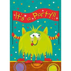 Party Monsters Invitations, 8pk