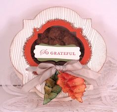 "Cindy Beach: ""There's nothing like yummy goodies wrapped with care that say ""You're special!"" and bring a smile. I designed this box to share my gratitude and two of my favorite Ginger Oatmeal Crisp cookies."" http://www.facebook.com/photo.php?fbid=10151207676882512"