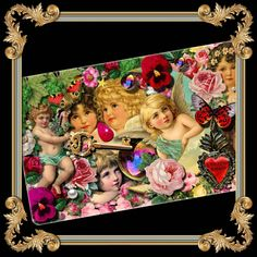 Decoupage Cherubs Ceramic Tray Plate from Paradis Maison USA