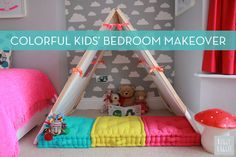 "Makeover Tour: A Colorful and Quirky ""Big Girl Room"" Bedroom Makeover"