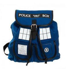 Doctor Who Blue Tardis Knapsack   43 Super Cool Backpacks For Grownups