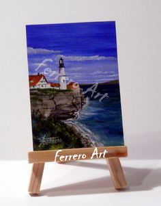ACEO Oil painting on cardboard. Original Aceo. With certificate of authenticity.