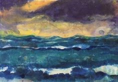 EMIL NOLDE Meer mit Abendhimmel (Sea with Evening Sky, 1935)