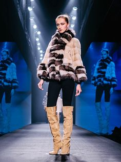 Byte by Giuliana Teso Mink and Fox Fur Jacket