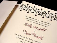 Striking and Sharp Custom Color Wedding Invitations