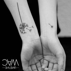 ▷ 1001 + ideas for heartwarming mother daughter tattoos - dandelion seeds, black and white photo, mother daughter tattoo ideas, wrist tattoos - Tattoo Mama, Tattoo For Son, Mom Tattoos, Wrist Tattoos, Couple Tattoos, Small Tattoos, Tattoos For Guys, Tattoos For Women, Mommy Daughter Tattoos