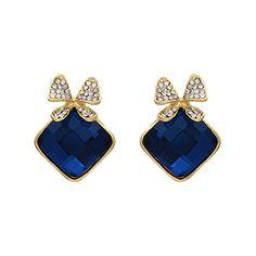 Blue AD CZ Gold Plated Stud Elegant Ethnic Indian Jewelry... http://www.amazon.in/dp/B01HRRUPZ8/ref=cm_sw_r_pi_dp_V51Dxb0SP9ZJY