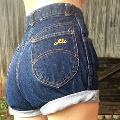 Vintage high waisted shorts Vintage denim cut off high waisted shorts. Cut to roll but can be cut shorter for a festival/destroyed look ❤️ waist is 24/25 NOT AA American Apparel Shorts
