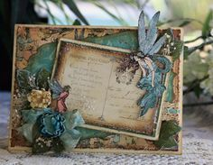 Once Upon A Springtime - Vintage Blue Fairy by Jerri Kay - Cards and Paper Crafts at Splitcoaststampers Graphic 45, Card Tags, I Card, Card Kit, Scrapbooking, Scrapbook Cards, Scrapbook Albums, Fairy Pictures, Shabby Chic Cards