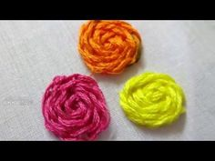 Hand Embroidery Flower Stitching By Amma arts - YouTube