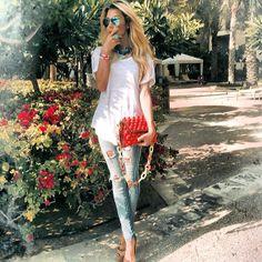 #MMissoni   Red Raffia Effect Bag   Summer 2014 #musthave #itbag Nina Zandnia