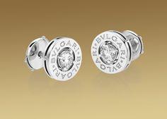 Bulgari Bulgari earrings in 18 kt white gold with diamonds
