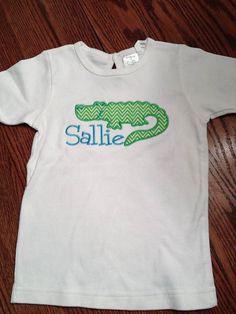 Alligator Applique GIrl Shirt