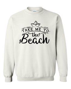 Take me to the beach sweatshirt summer vacation graphic sweatshirt gift ideas for summer