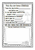 Pete The Cat Saves Christmas Craftivitypdf Library Pinterest